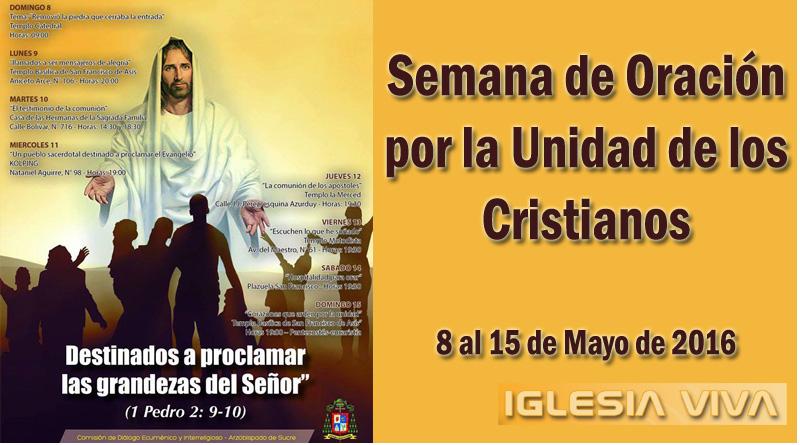 Semana de Oración por la Unidad de los Cristianos en Sucre