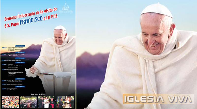 La Paz Confirma Programa de Actividades Recordando un Año de la Visita del Papa Francisco a Bolivia