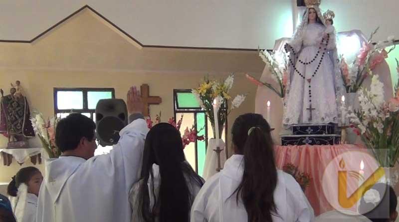 Sucre: misa y procesión en honor a la Virgen del Rosario