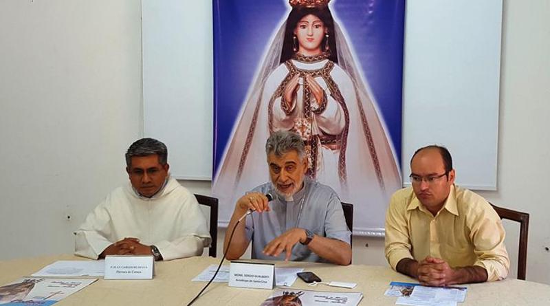 Iglesia cruceña lanza el programa de la festividad de Cotoca 2016