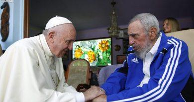 Sentimientos de pesar del Papa Francisco por la muerte de Fidel Castro