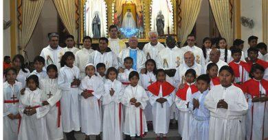 """Primer día: """"Vicaría Santa Rosa de Lima organizó y celebró la novena a la Mamita de Cotoca"""""""