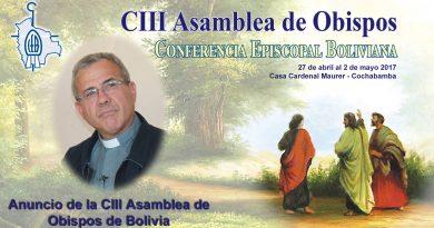 Video: Anuncio de la CIII Asamblea de Obispos de Bolivia