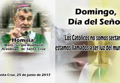 Los Católicos no somos sectarios, estamos llamados a ser luz del mundo