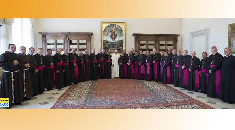 Los Obispos de Bolivia con el Papa