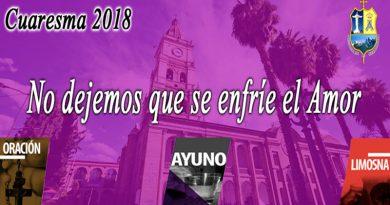 Mensaje de Mons. Oscar Aparicio por el tiempo de Cuaresma 2018
